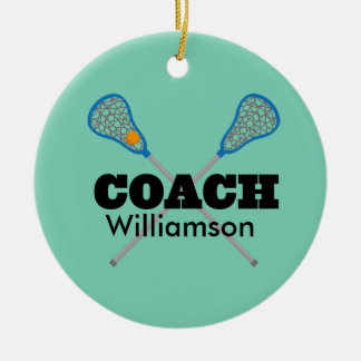 Lacrosse Coach Personalized Gift Idea Christmas Ornament