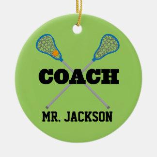 Lacrosse Coach Personalized Ornament