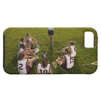 Lacrosse coach speaking to teenage (16-17) team iPhone 5 covers
