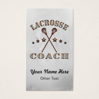 Lacrosse Coach Steampunk Customized Business Cards