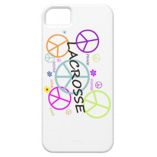 Lacrosse Colored Peace Signs iPhone 5 Cases