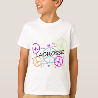 Lacrosse Colored Peace Signs T-Shirt