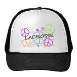 Lacrosse Coloured Peace Signs Hat