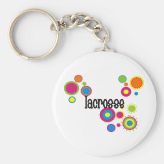 Lacrosse Cool Polka Dots Keychains