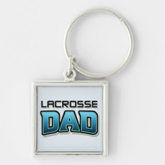 Lacrosse DAD Silver-Colored Square Key Ring
