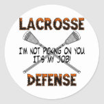 Lacrosse Defence Picking Sticker
