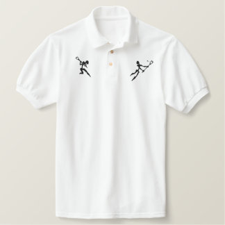 Lacrosse Embroidered Polo Shirt