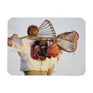 Lacrosse Equipment Rectangular Magnet