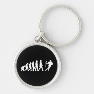 Lacrosse Evolution Silver-Colored Round Key Ring