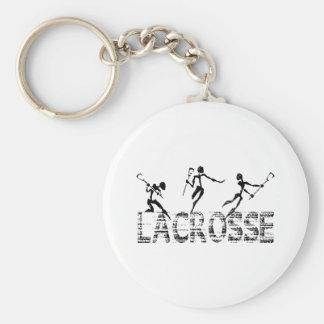 Lacrosse Gift Basic Round Button Key Ring