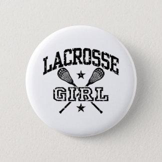 Lacrosse Girl 6 Cm Round Badge