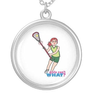 Lacrosse Girl - Light/Red Custom Necklace
