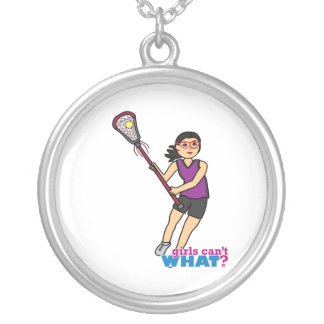 Lacrosse Girl - Medium Personalized Necklace