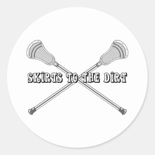 Lacrosse Girls Dirt Sticker