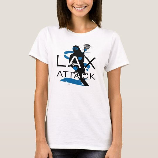 Lacrosse Girls LAX Attack Blue T-Shirt