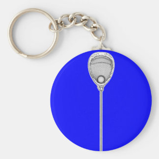 Lacrosse Goalie Basic Round Button Key Ring