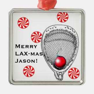 lacrosse goalie christmas ornament