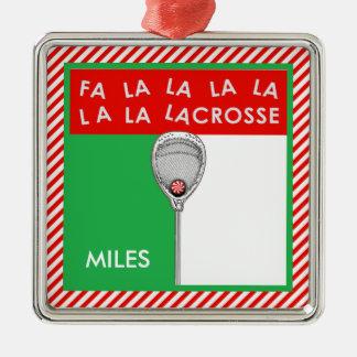 Lacrosse Goalie Collectible Christmas Ornament
