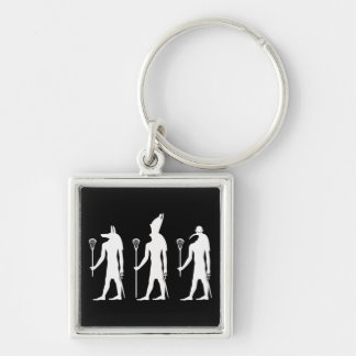 Lacrosse Gods Silver-Colored Square Key Ring