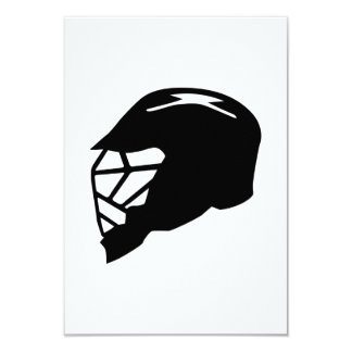Lacrosse helmet 3.5x5 paper invitation card