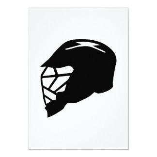 Lacrosse helmet 9 cm x 13 cm invitation card