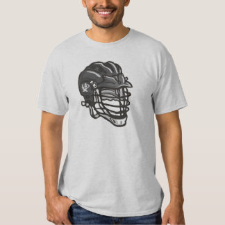 Lacrosse Helmet Black T Shirt
