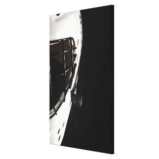 Lacrosse helmet canvas print