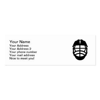 Lacrosse helmet pack of skinny business cards