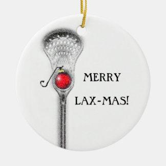 lacrosse holiday gift round ceramic decoration