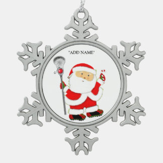 Lacrosse Holidays Pewter Snowflake Decoration