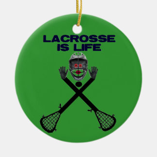 Lacrosse is Life Christmas Ornament