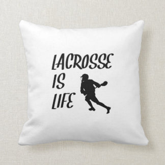 Lacrosse Is Life Throw Pillow