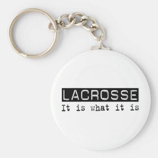 Lacrosse It Is Basic Round Button Key Ring