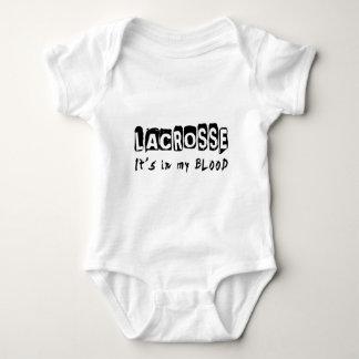 Lacrosse It's in my blood Baby Bodysuit