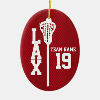 Lacrosse Jersey with Photo Red Christmas Ornament