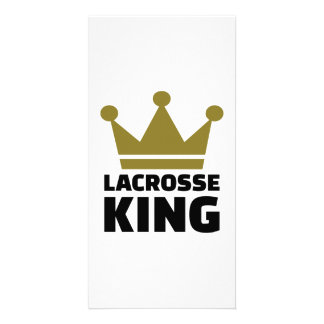 Lacrosse king champion customized photo card