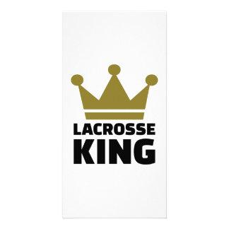 Lacrosse king champion customized photo card