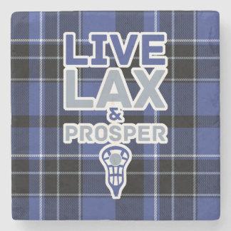 Lacrosse Live LAX and Prosper Stone Coaster
