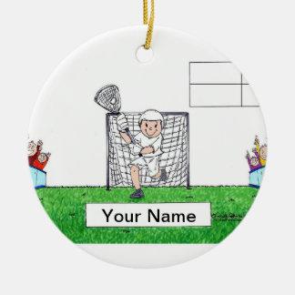 Lacrosse, Male - Blank Christmas Ornament
