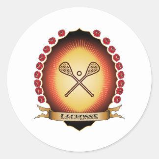 Lacrosse Mandorla Round Stickers