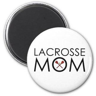 Lacrosse Mom 6 Cm Round Magnet