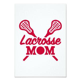 Lacrosse mom 9 cm x 13 cm invitation card