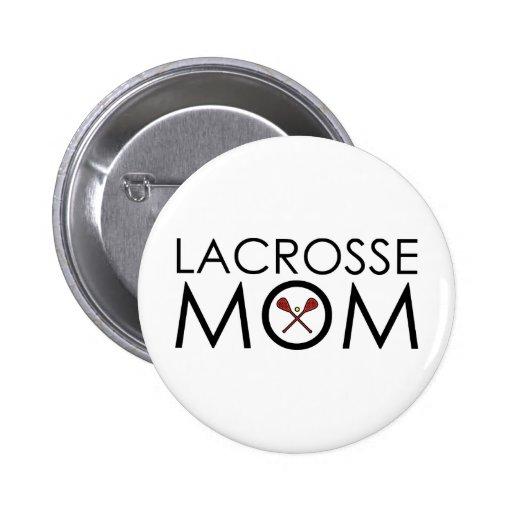 Lacrosse Mom Button