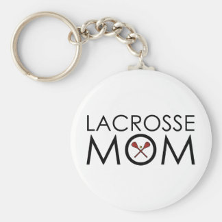 Lacrosse Mom Basic Round Button Key Ring