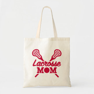 Lacrosse mom budget tote bag