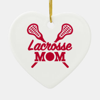 Lacrosse mom ceramic heart decoration