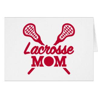Lacrosse mom greeting card