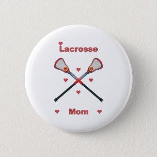 Lacrosse Mom Hearts 6 Cm Round Badge
