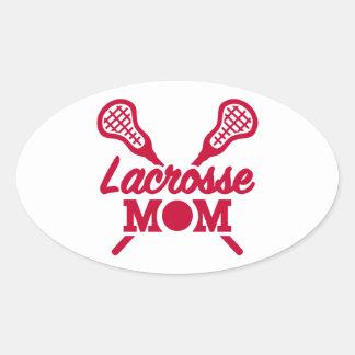 Lacrosse mom oval sticker