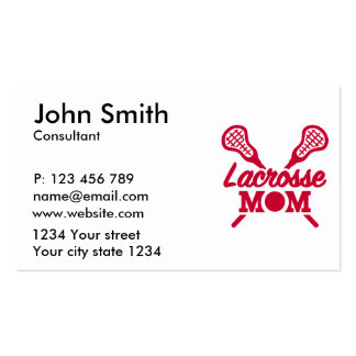 Lacrosse mom pack of standard business cards